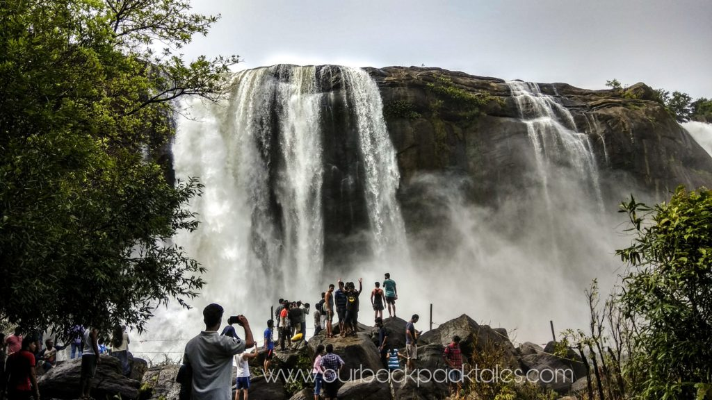 Athirapally waterfalls in places to visit from Bangalore