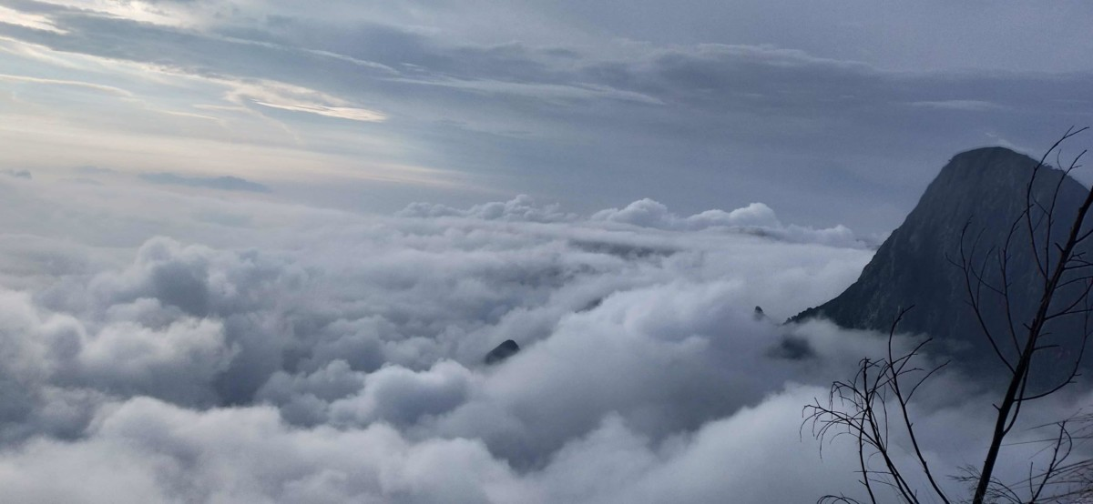 Clouds at Kolukkumalai peak World's highest tea estate