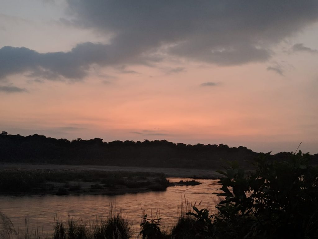Sunset in Chitwan National Park Nepal Backpacking to Nepal