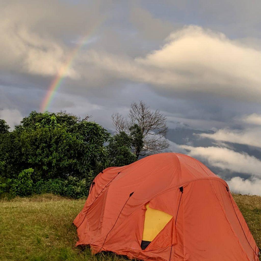 Tent stay at Australian Base Camp at Sarangkot while backpacking to Nepal