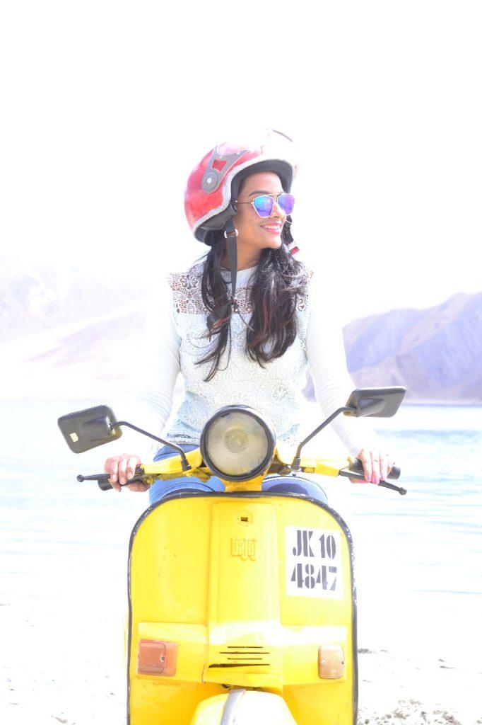 Pangong 3 idiots scooter