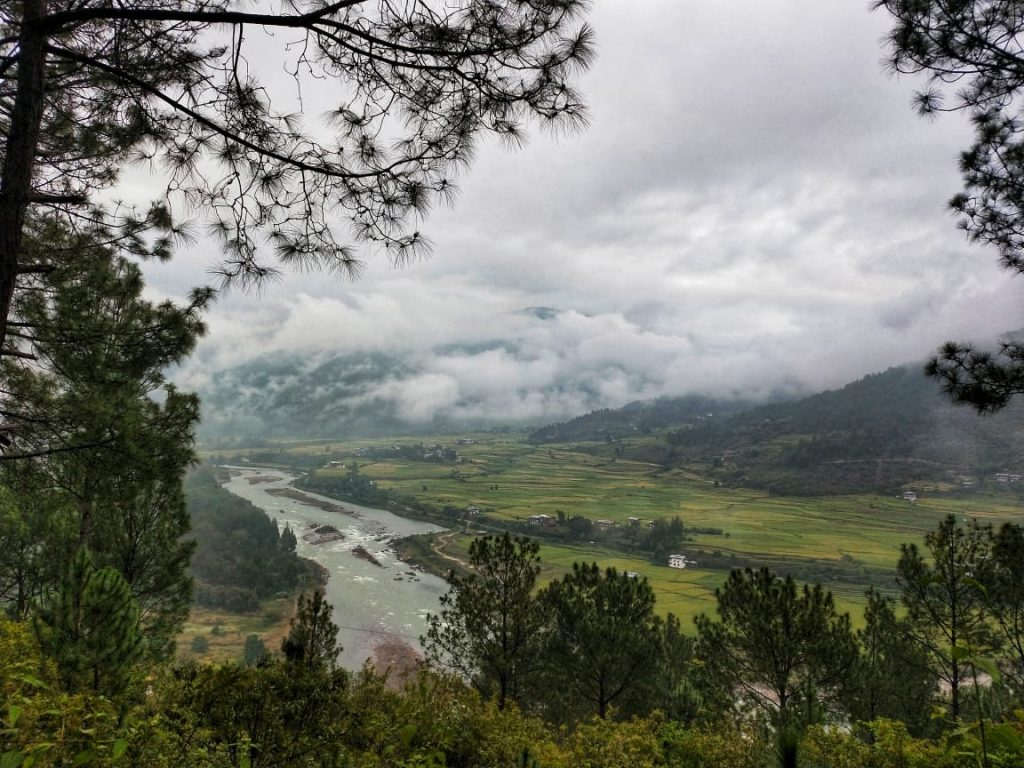 View of Punakha river