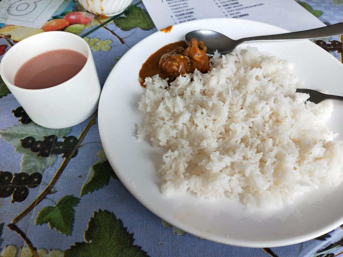 Rice Suja lunch bhutan travel blog