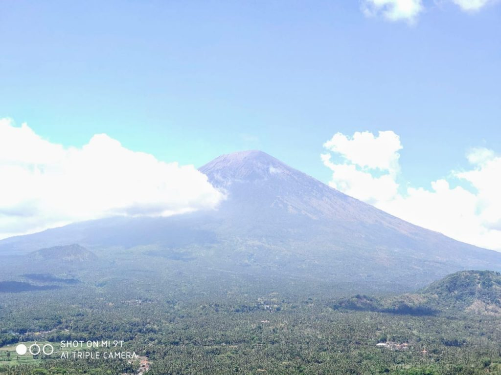 Mount Agung view in Bali travel blog