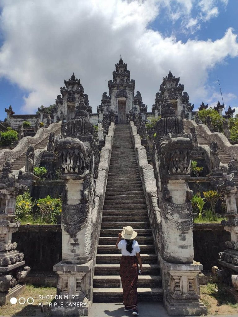 Stairs to heaven in Bali travel blog