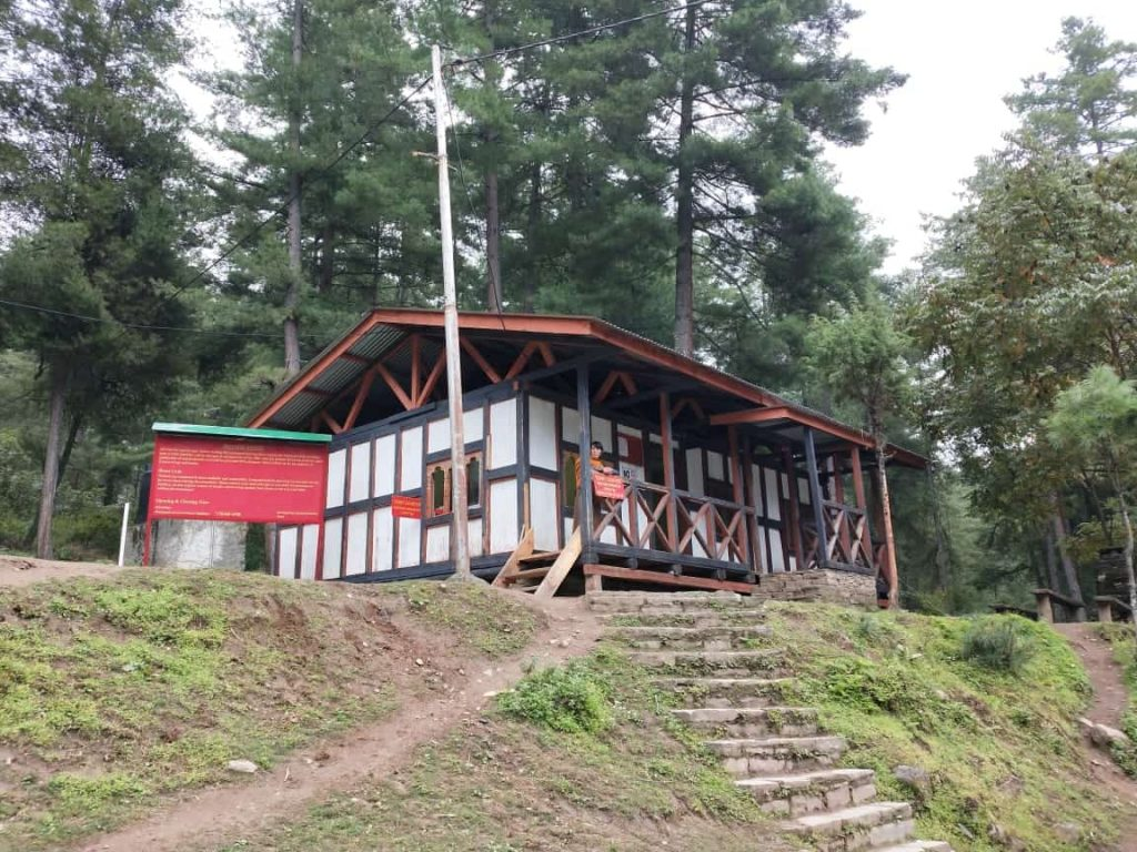 Ticket counter for Tigers Nest Hike