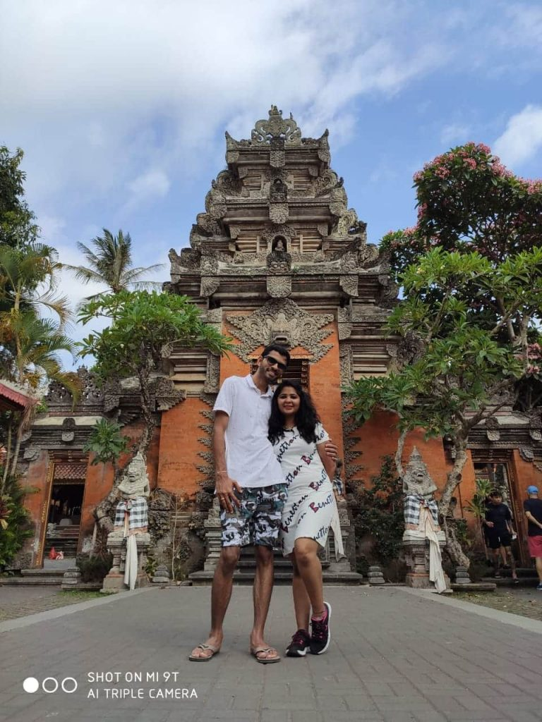 Infront of ubud palace in Bali