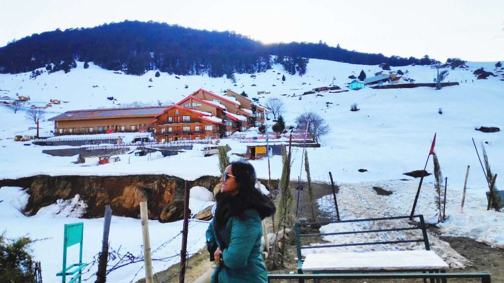 Hotel cliff top at Auli