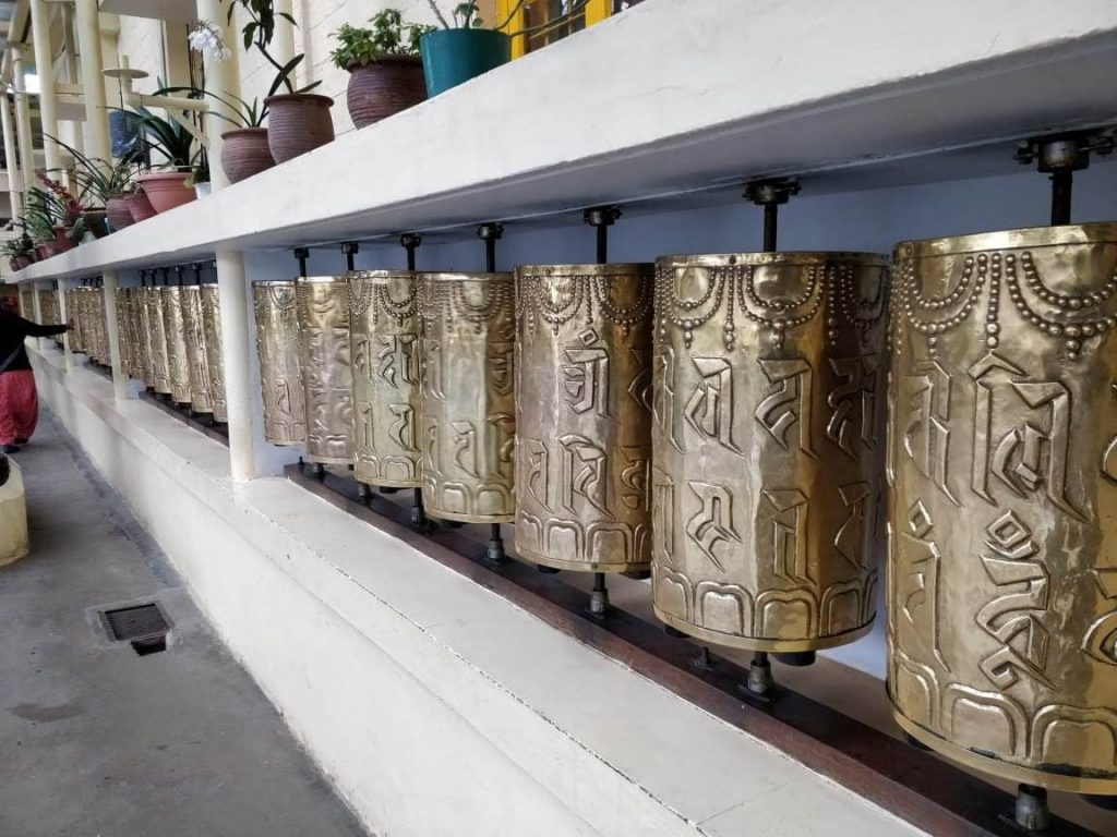Mani prayer wheels at Dalai lama temple Mcleodganj from delhi travel blog