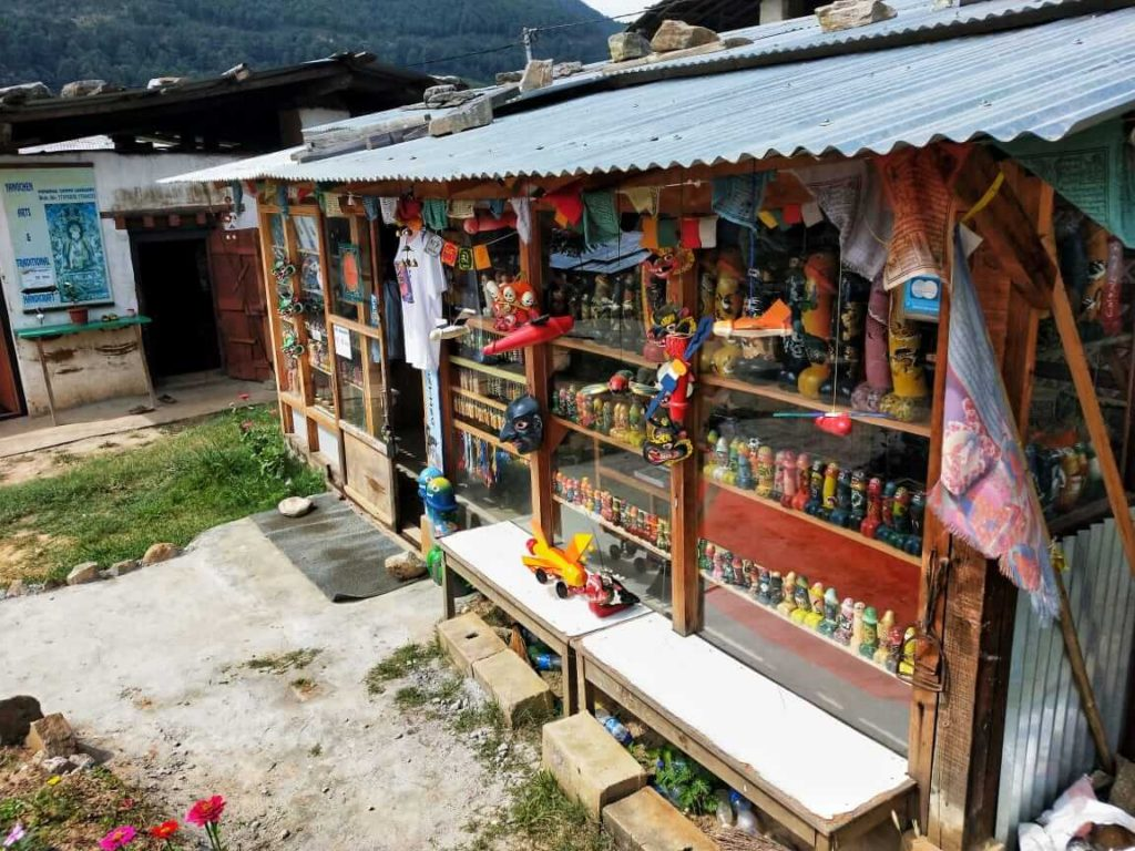 Phallus souvenirs shop in chimi lhakhang