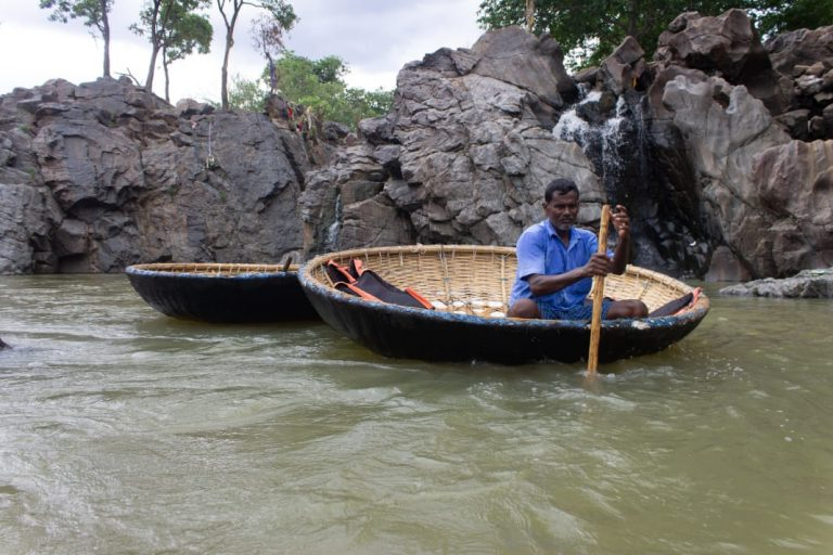 Coracle Boating at Hogenakkal