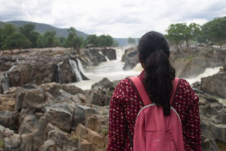 Hogenakkal falls view point by Our Backpack Tales