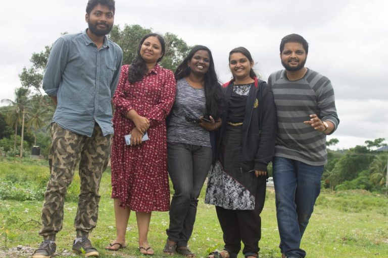 Our team on the way to Hogenakkal falls