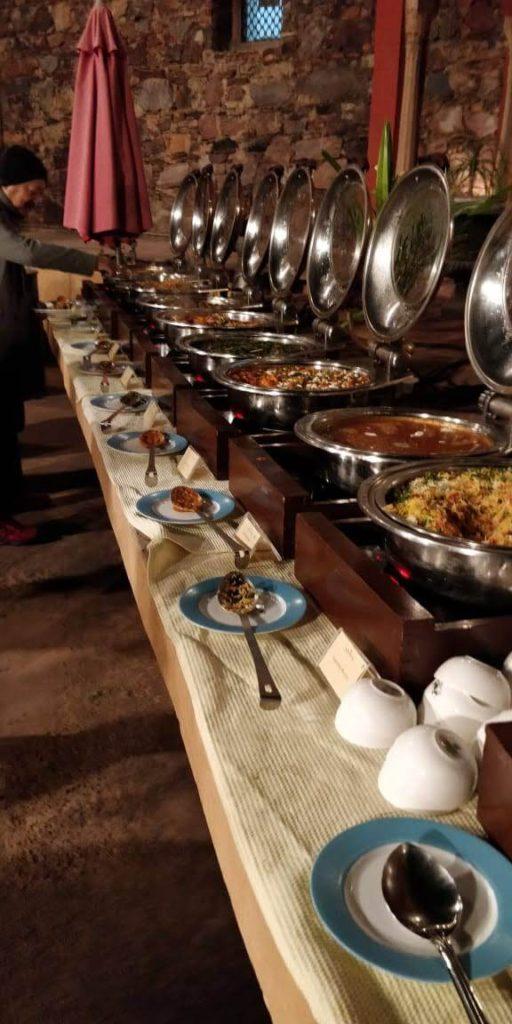Gala dinner at Neemrana Fort Palace