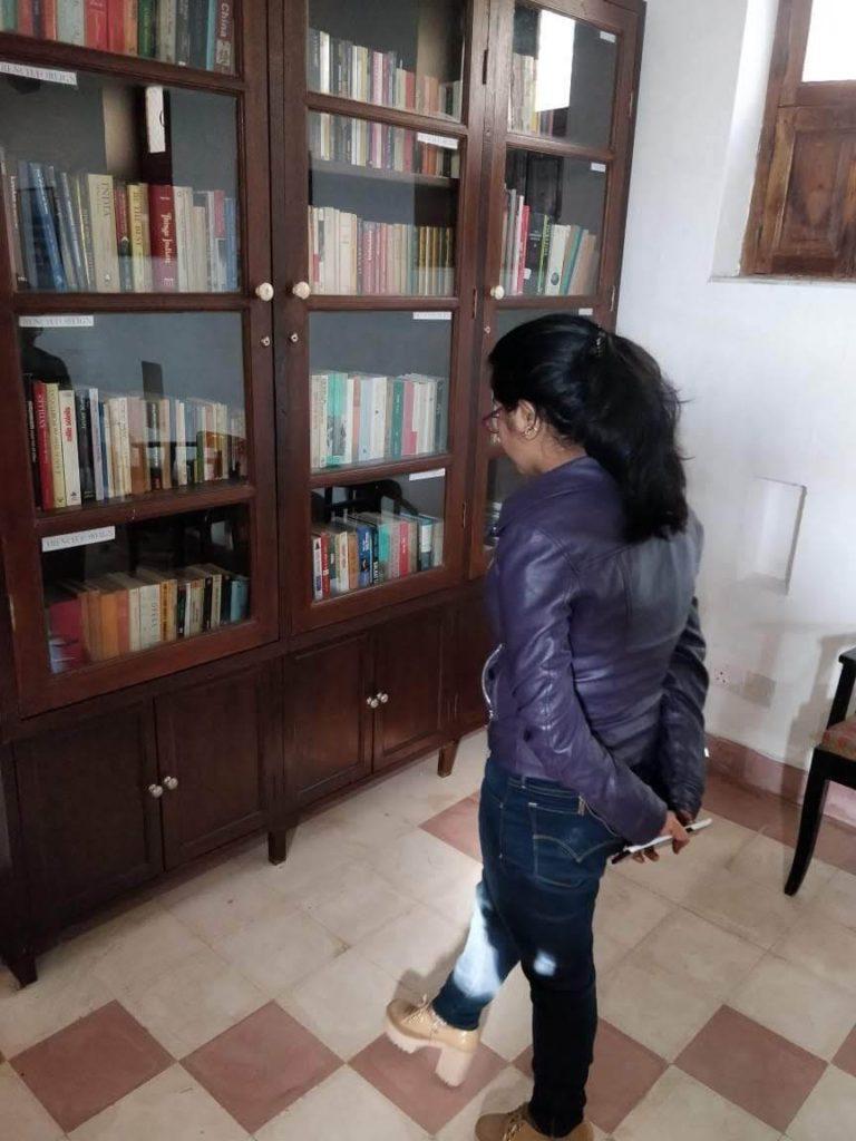 Library at Neemrana Fort Palace