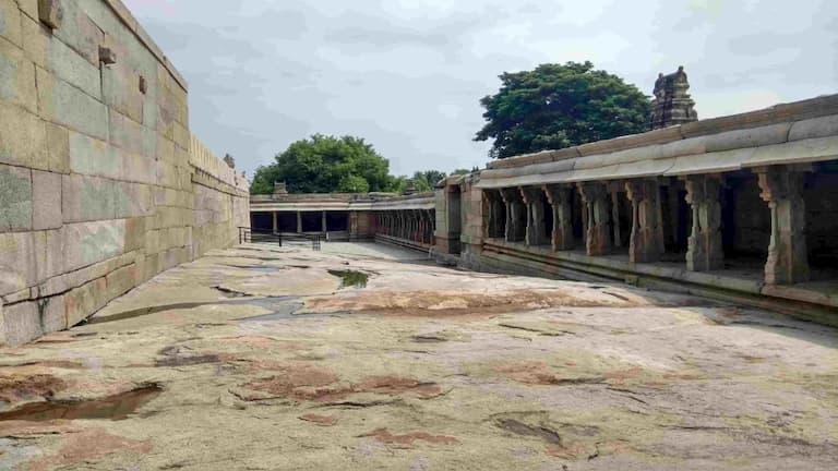 Stone path inside temple