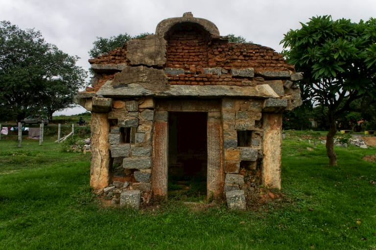 A ruined temple on the way to Hogenakkal Falls from Bangalore