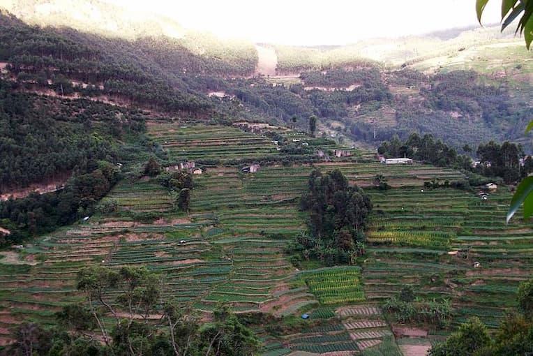 Vattavada Village distant view