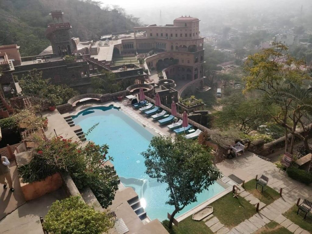 View from our room at Neemrana Fort Palace
