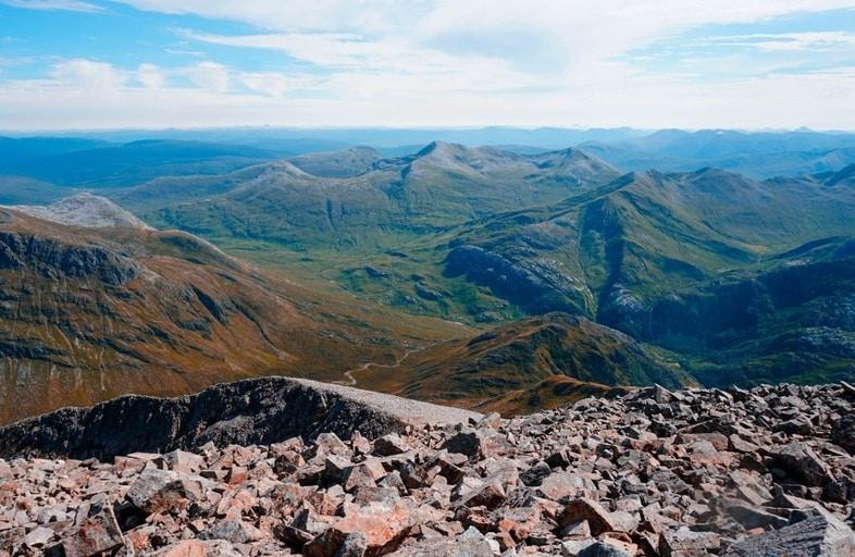 Ben Nevis hiking trail in Scotland best hiking trail in Europe