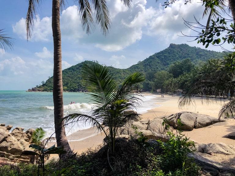 Bottle Beach, hiking trails in Koh Phangan in Thailand