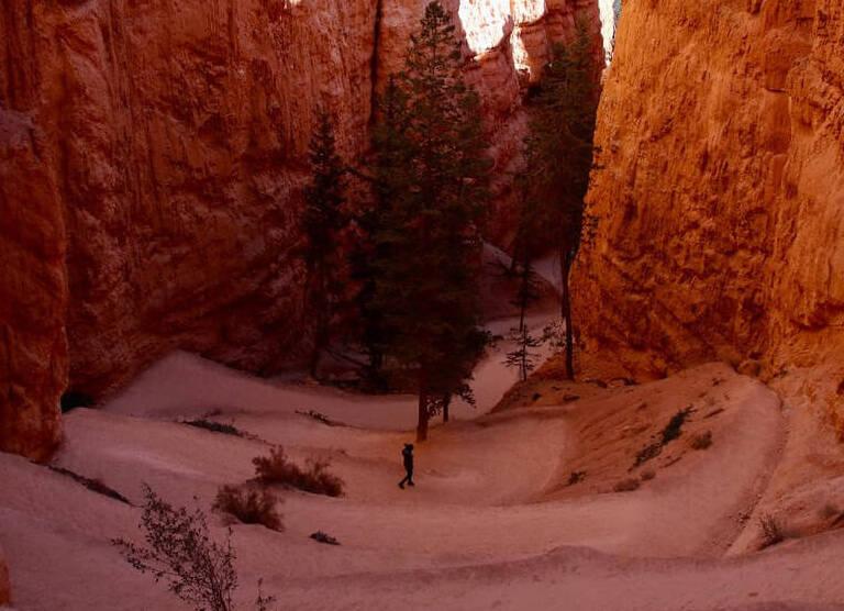 Navajo hiking Trail loop in Utah USA