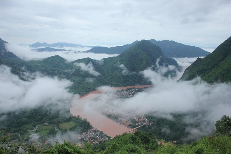 Phadeng peak hiking trail in Laos