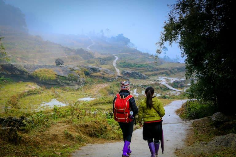 Sapa hiking trail in Vietnam