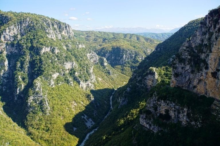 Vikos Gorge hiking trail in North Greece is one of the best hiking trails in the Europe