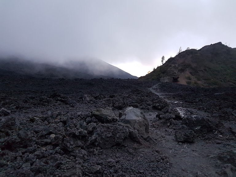Volcan Pacaya hiking trail in Guatemala on best hiking trails in North America