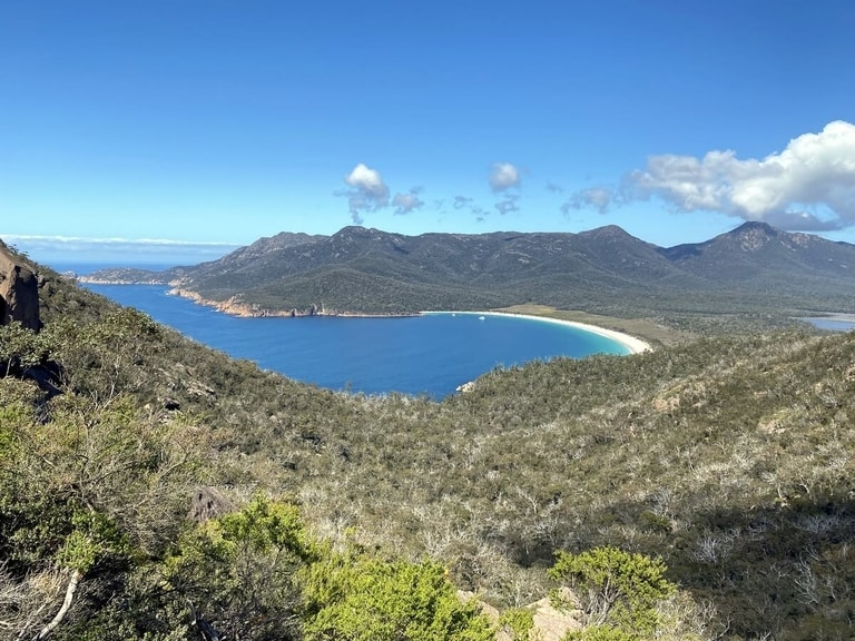 Wineglass Bay hiking trail in Tasmania is one of the best hiking trails in Oceania