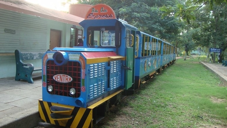 Toy train in jawahar toy museum