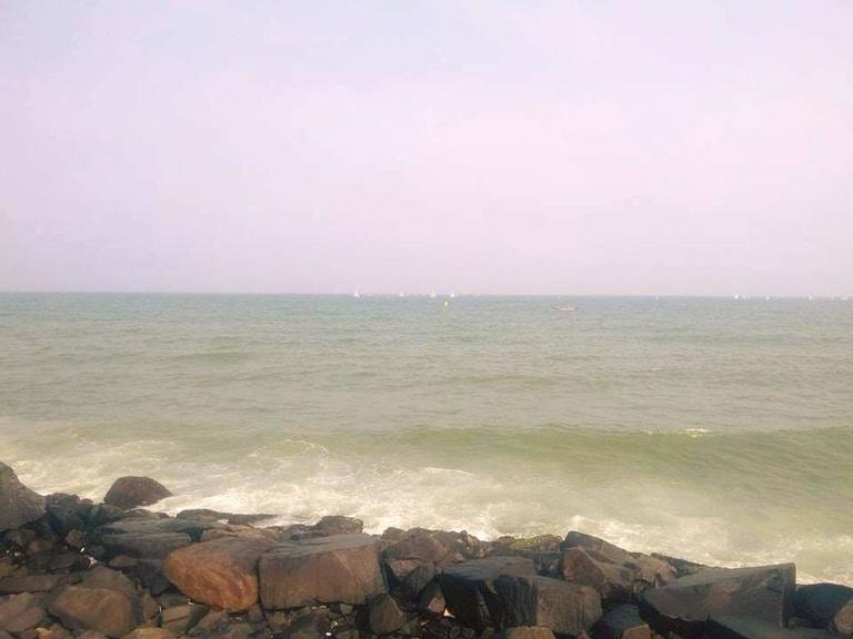 Rock beach in pondicherry