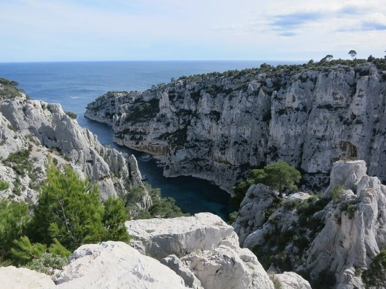 Calanques hiking trails of Marseille Cassis in France