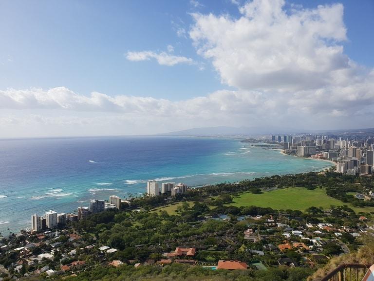 Diamond Head hiking trails in Hawaii