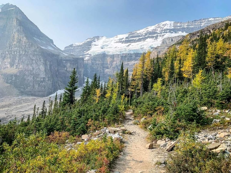 Plain of Six Glaciers hike in Banff National Park Canada