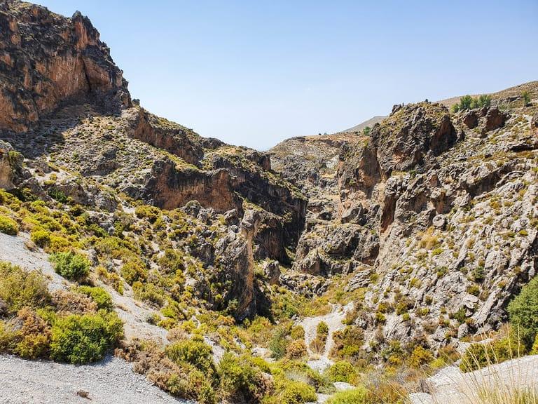 Ruta de Los Cahorros hiking trail in Monachil, Spain