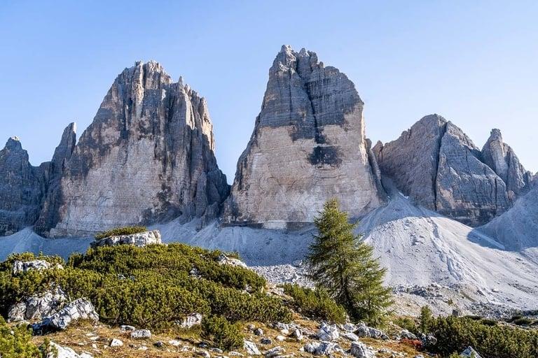 Tre Cime di Lavaredo hiking trail Dolomites in Italy