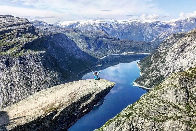 Trolltunga hiking trail in Norway