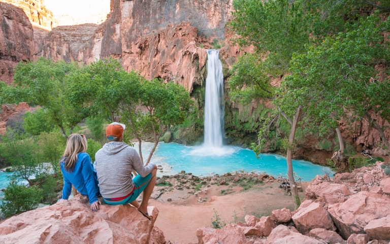 Havasu Falls hiking trails in Arizona USA one of the best hiking trails in North America
