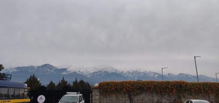 View of McLeodganj mountains