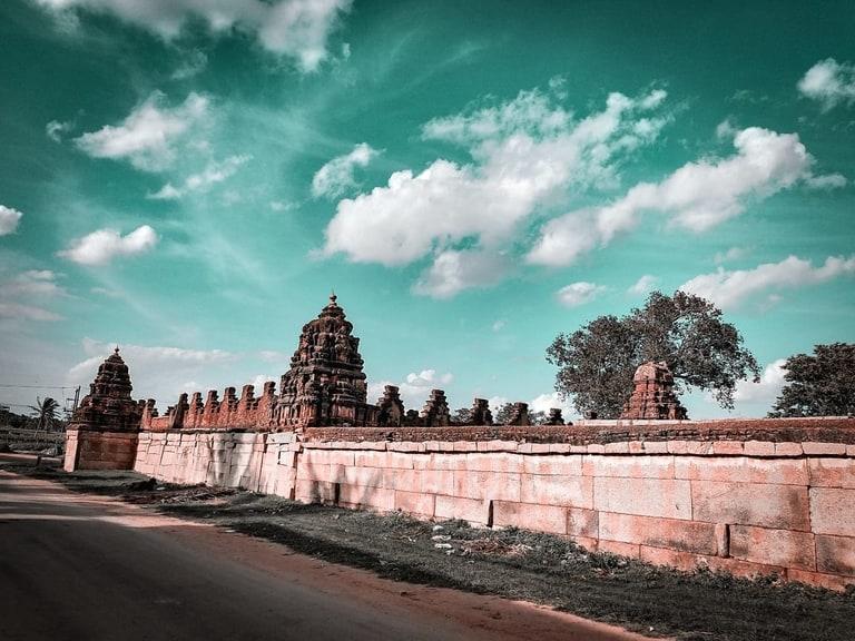 Bhoga nandeeswara temple in Nandi hills from Bangalore